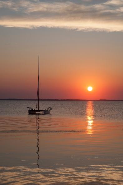 Sailboat at Sunset original